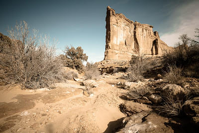 Giant fin rock formation, Moab Utah Copyright 2014 - Thorpeland Photography