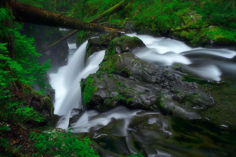 Serene Rainforest Waterfall