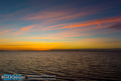 Sunset over Pine Island Sound 01132015