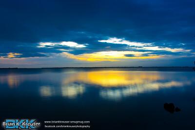 Sunset over Pine Island Sound 01112015