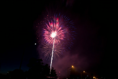 Fireworks @Herndon Community Center, July4th 2014