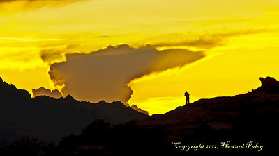 """Dwarfed"", Sunset, Windy Point Vista, Mt. Lemmon, Arizona."