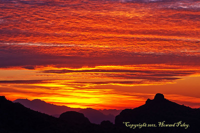 """Fire in the Sky"", Sunset, Thimble Point Vista, Mt. Lemmon, Arizona."