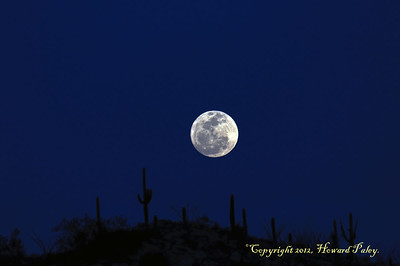 """Luna Bella"", Moonrise, Molino Canyon, Tucson, Arizona."