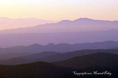 """Purple Haze"", Sunrise, Geology Vista, Mt. Lemmon, Arizona."