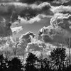 Dramatic Central Ohio March clouds