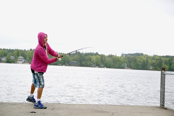 Fishing at Lake Whalom