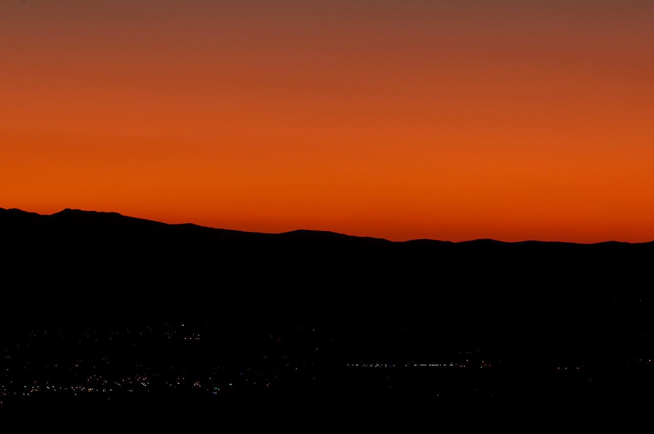 Sunset over north Albuquerque, NM.