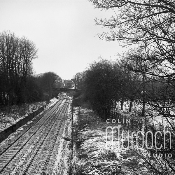 Winter Railway Scene
