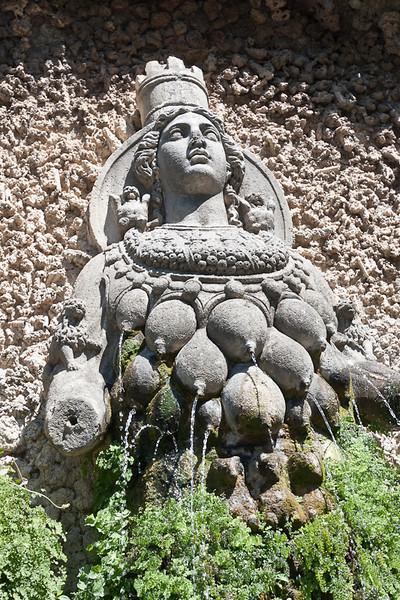 Artemis (principal god of Ephesus) in the garden