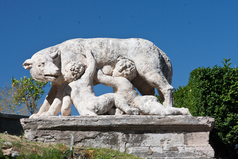Villa D'Este - Remus and Romulus suckle at the she-wolf
