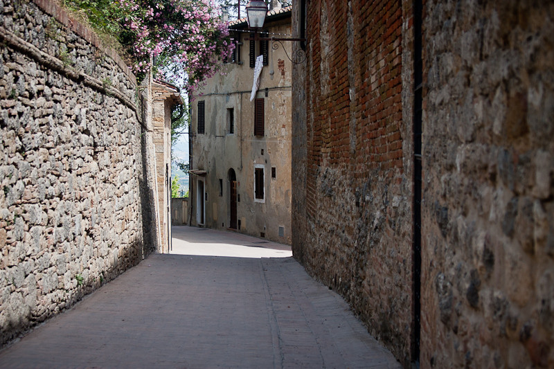 Side street of San Gimignano