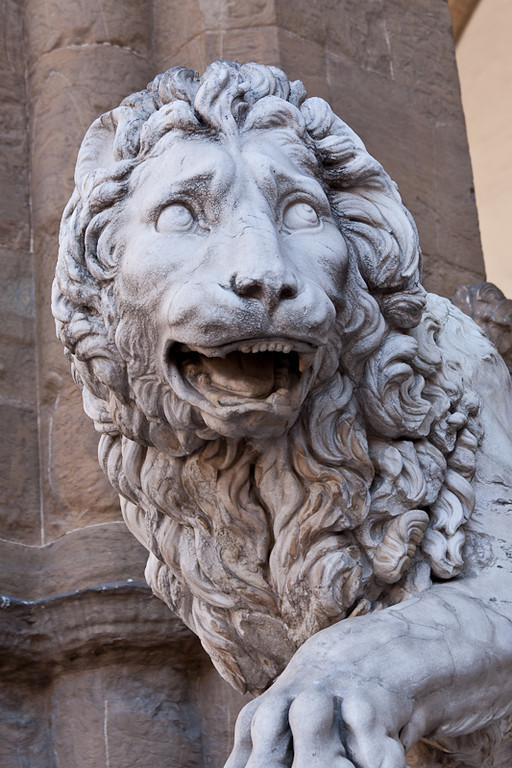Lion sculpture in Palazzo della Signoria