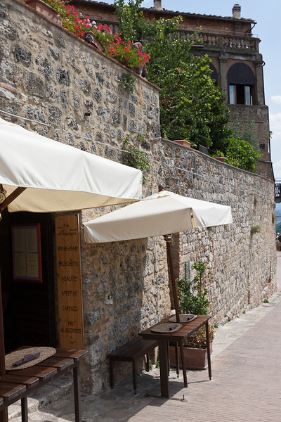 Little out of the way restaurant in San Gimignano