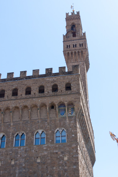 The tower of Florence City Hall (Palazzo Vechio)