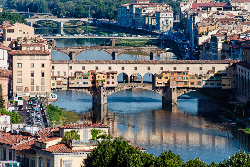 "Ponte Vecchio (""Old Bridge"") over the Arno River, Florence"
