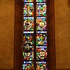 Stained Glass Windows in Church in Florence Italy
