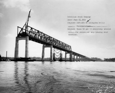 Construction of the Arlington Bridge in 1952.
