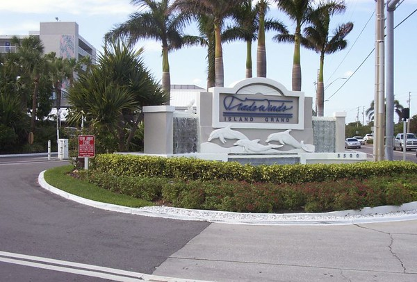 Entrance To the Trade Winds Island Grand, beach Resort on St Pete Beach