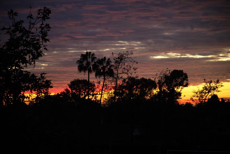 Fall Sky in Costa Mesa California
