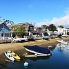 Small Boats and Small Houses on Waterway on Balboa Island in Newport Beach CA2