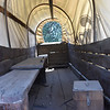 Inside a Covered Wagon from the Old West at Knott's Berry Farm