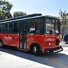 Riding the Free Trolley Bus in Laguna Beach California