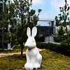 Another Rabbit Sculpture Photo at Newport Beach Library in CA