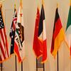 Flags at Orange Coast Plaza in Costa Mesa California
