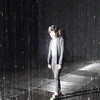 Walking in the Rain Room at Los Angeles County Art Museum in California