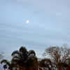 Early Dusk with Full Moon in Orange County CA