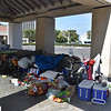 Homeless At the Newport Beach Transit Center in CA