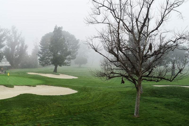 Foggy Morning at Mesa Verde Country Club in Costa Mesa CA