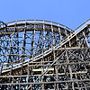 Old Wood Roller Coaster at Knott's Berry Farm in Orange County California