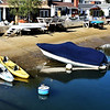Small Boats and Small Houses on Waterway on Balboa Island in Newport Beach CA3