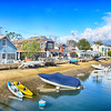 Newport Beach Cottages and Boats