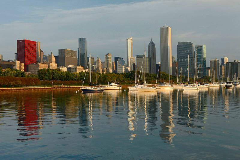 Morning light in Chicago