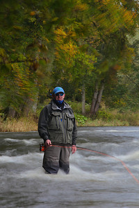 Bill Drury fishing the Turn Pool, Sunlaws