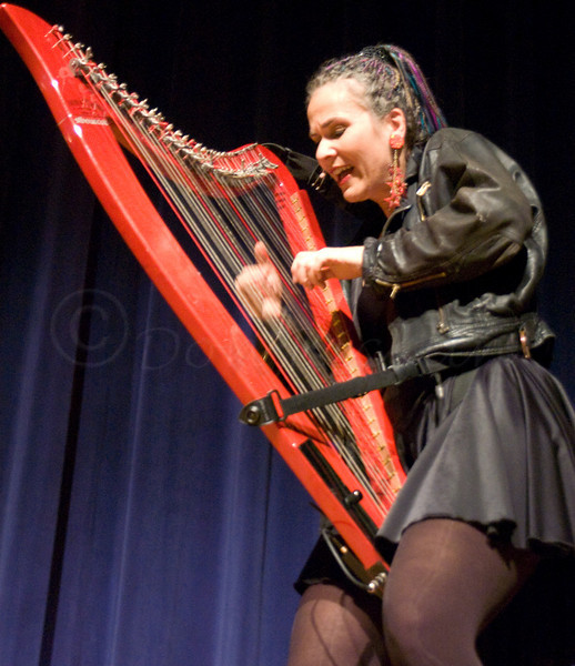 The Hip Harp Lady<br /> <br /> Debra Hensen-Connant, Electric Hip Harp, Tuckerman Hall, Worcester, MA, ©2006