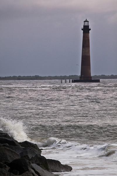Morris Light as viewed from Folly Beach.