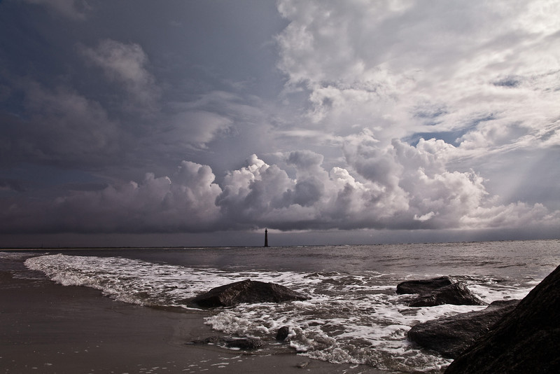 Morris Light as viewed from Folly Beach.