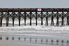 The Folly Beach pier during the storm.