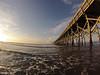 Folly Beach pier at sunrise.