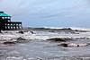 Hurricane waves on Folly Beach.