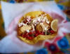 A fish taco at the Crazy Norwegian in Port Orford, Oregon coast.  Tasted just as good as it looks!<br /> Photo © Cindy Clark