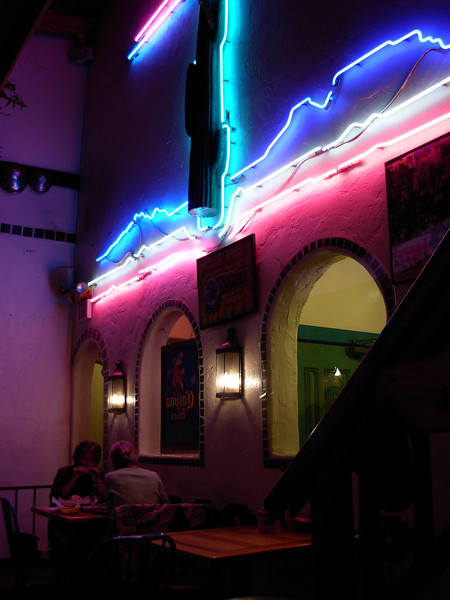 Cool neon & the best Mexican food in Colorado at Gazpachos in Durango.