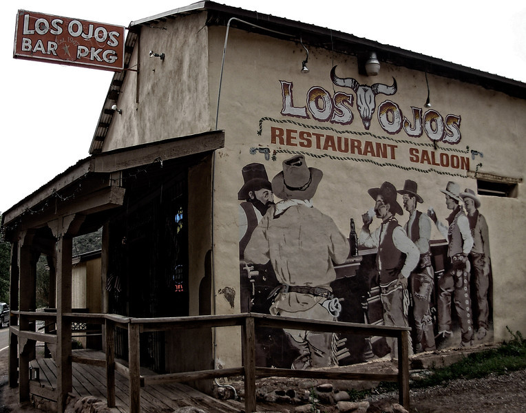 """Another place to get a terrific green chile cheeseburger, this is in Jemez Springs, New Mexico.<br />  <a href=""""http://www.losojossaloon.com/"""">http://www.losojossaloon.com/</a>"""