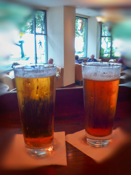 """A couple of frosty pints in the bar at the classic Sylvia Hotel in Vancouver, Canada. <a href=""""http://www.sylviahotel.com/"""">http://www.sylviahotel.com/</a>"""