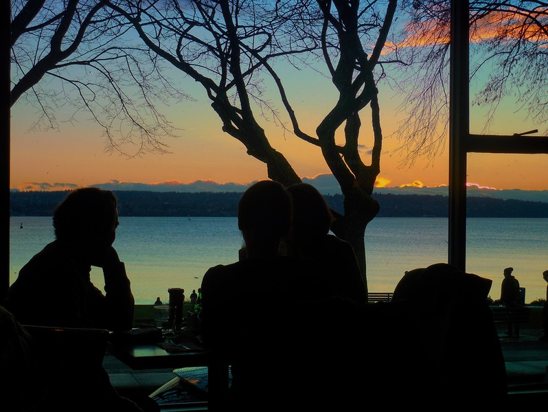 The view of English Bay from the Sylvia Hotel, Vancouver, B.C.