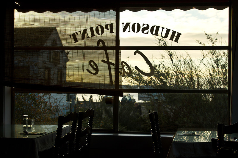 Everything in Port Townsend is picturesque.  The Hudson Point Café is a great spot for breakfast.